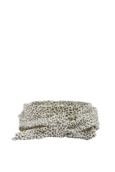 Animal print neckerchief