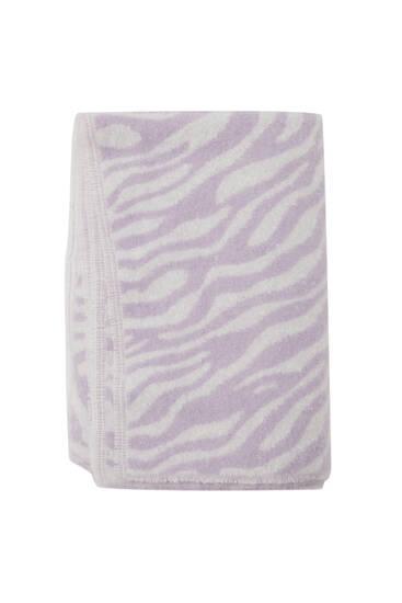 Bufanda lila estampat zebra