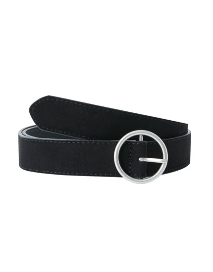 Belt with round buckle