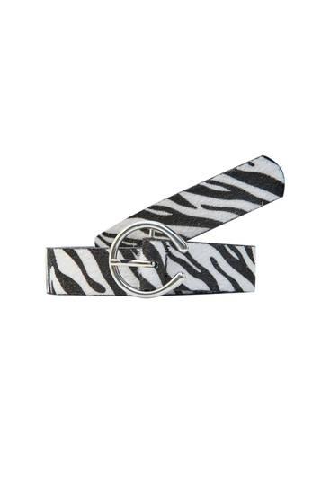 Cinturó estampat zebra