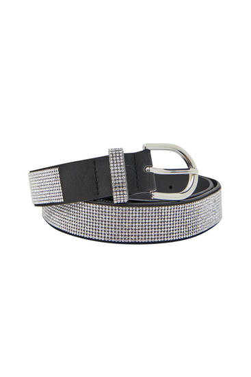 Black belt with diamanté detail