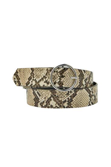 Cinturón estampado serpiente