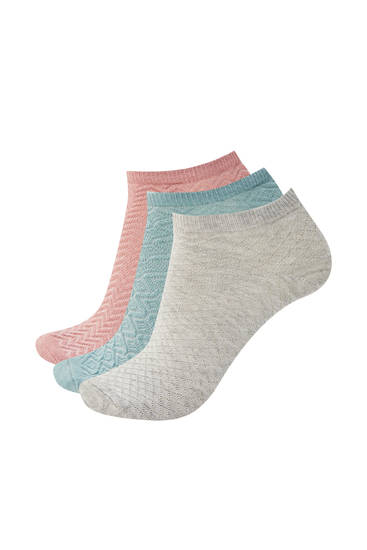 Pack calcetines tobilleros texturas