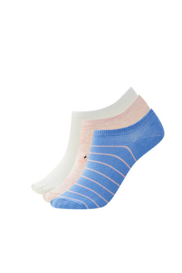 Pack of no-show flamingo socks