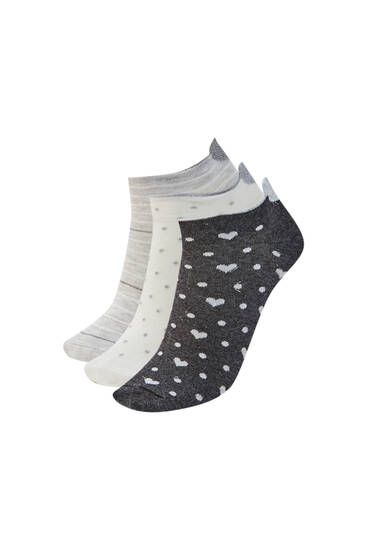 Pack of heart ankle socks