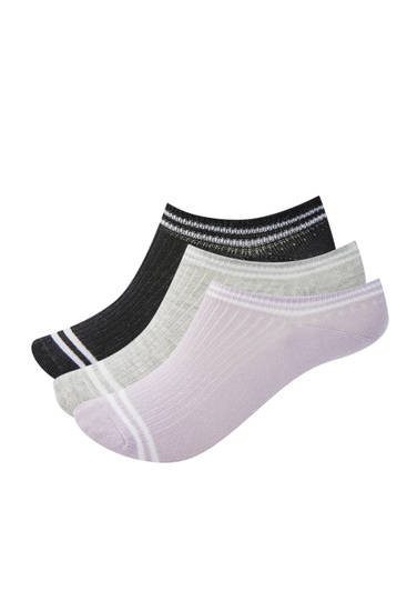 Pack lila Sneakersocken