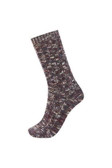 Flecked sports socks
