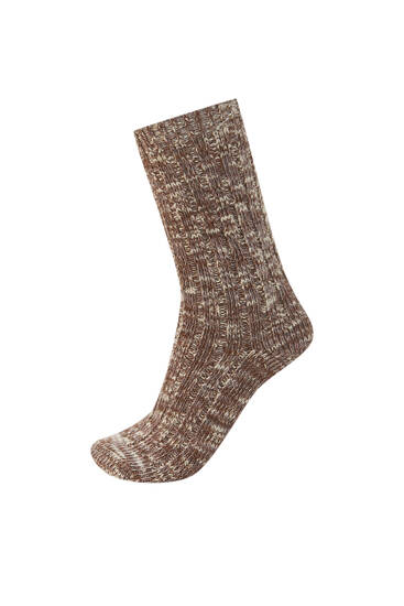 Flecked sports socks