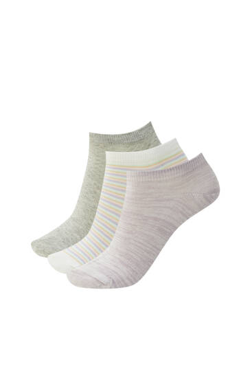 Pack of textured ankle socks