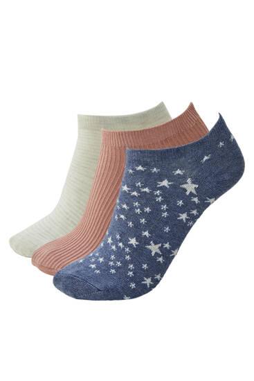 Pack of star ankle socks