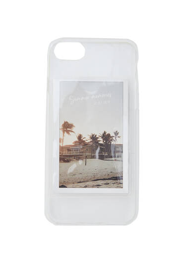 Transparent smartphone case