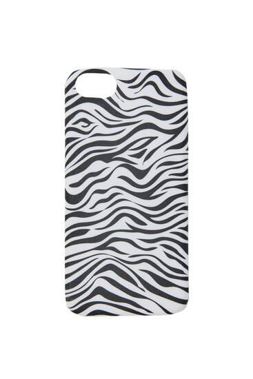 Funda smartphone efecte zebra
