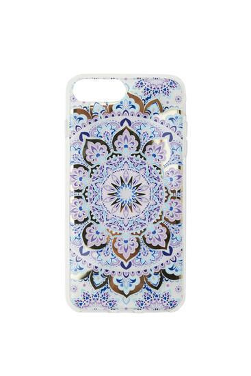 Lilac mandala smarpthone case