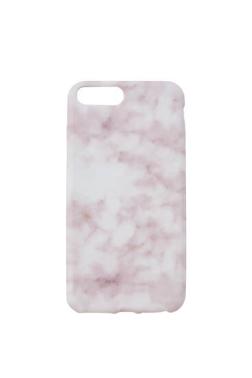 Pink marble print smartphone case