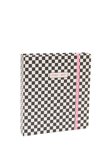 Agenda carreaux damier