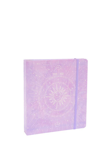 Lilac diary with illustration