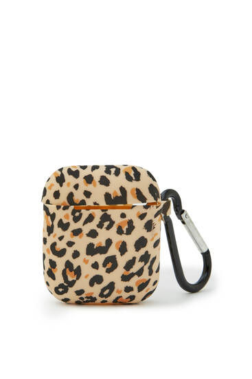 Funda airpods estampado leopardo