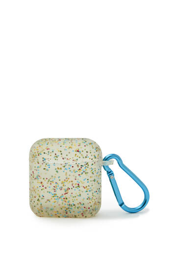 Multicoloured glitter airpods case