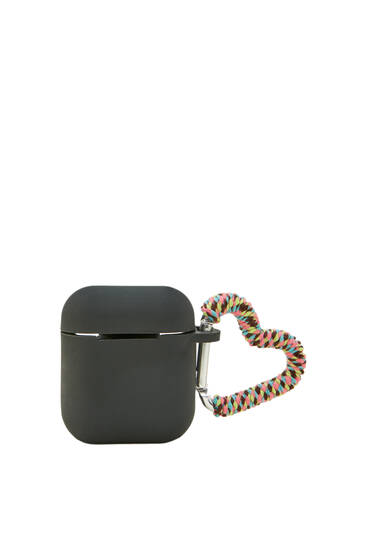 Multicoloured airpods case with lobster clasp