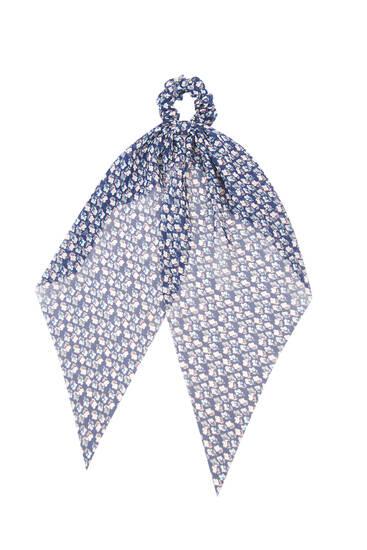 Резинка-платок для волос с простым цветочным принтом