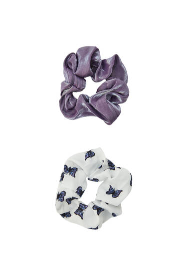 Pack of scrunchies with butterflies