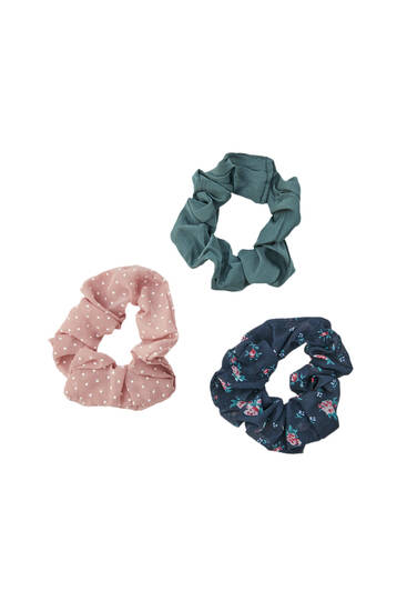 Pack of 3 polka dot scrunchies