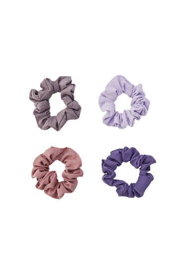 Pack of lilac scrunchies