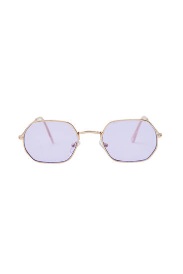 Geometric framed sunglasses