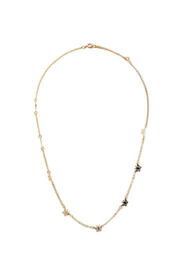 Gold-toned necklace with butterflies