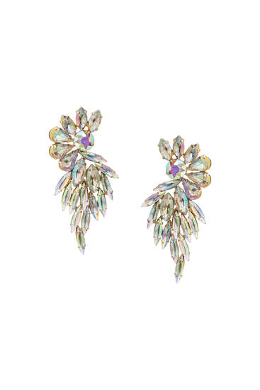 Iridescent flower earrings