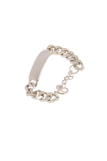 Bracelet with silver plate