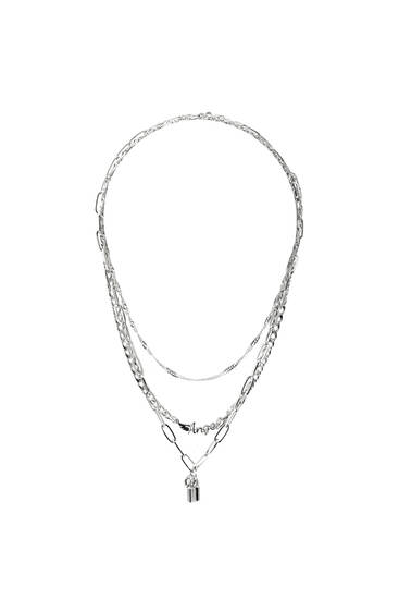 Pack of silver-coloured necklaces