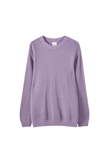 Suéter básico punto inglés