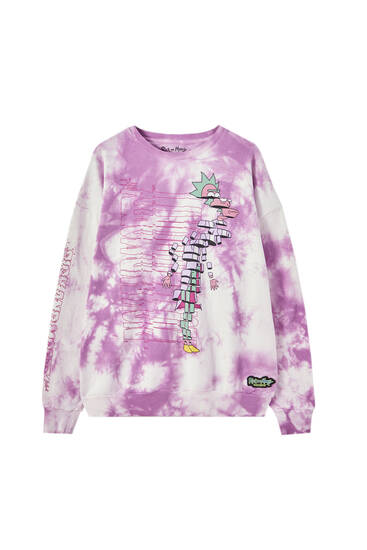Tie-dye Rick & Morty sweatshirt
