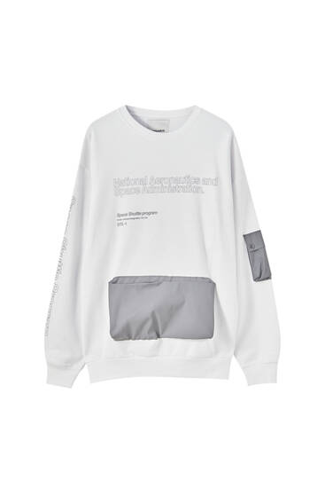 Nasa Sweatshirt With Reflective Pockets Pull Bear