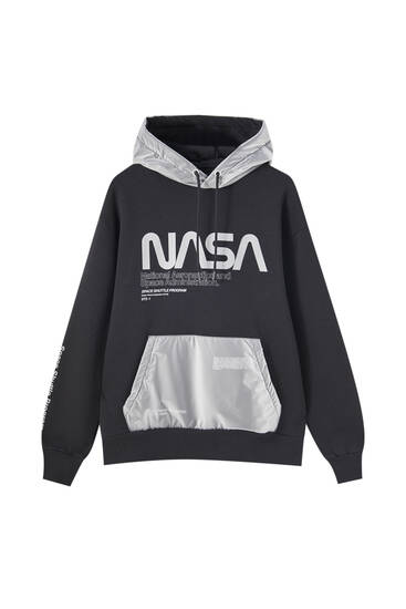 Nasa Hoodie With Contrast Hood Pull Bear