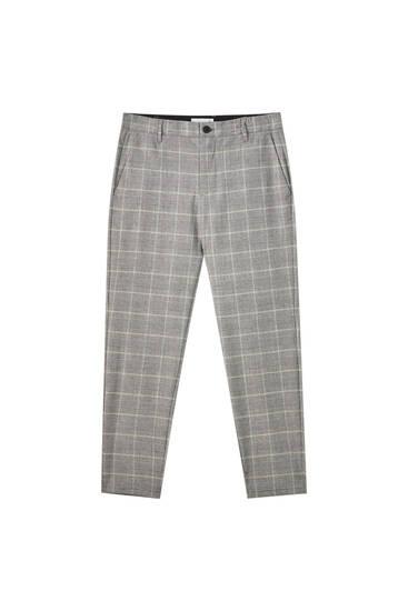 Tailoring-Hose mit kontrastfarbenem Karomuster