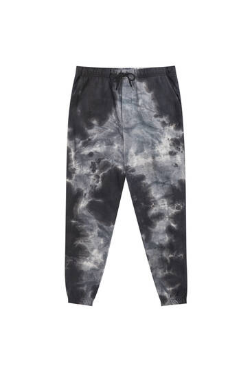 Acid wash jogging trousers