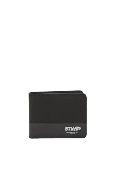 Черный комбинированный кошелек STWD