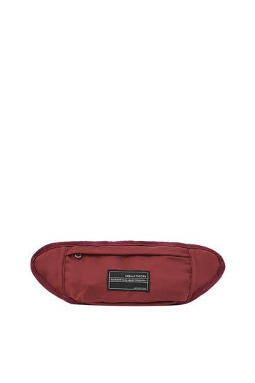 Belt bag with embroidered logo