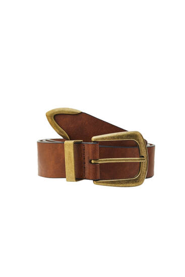 Basic belt with cowboy-style buckle