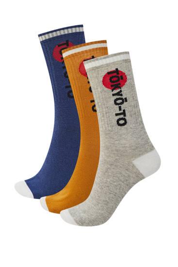 Pack of Tokyo sports socks