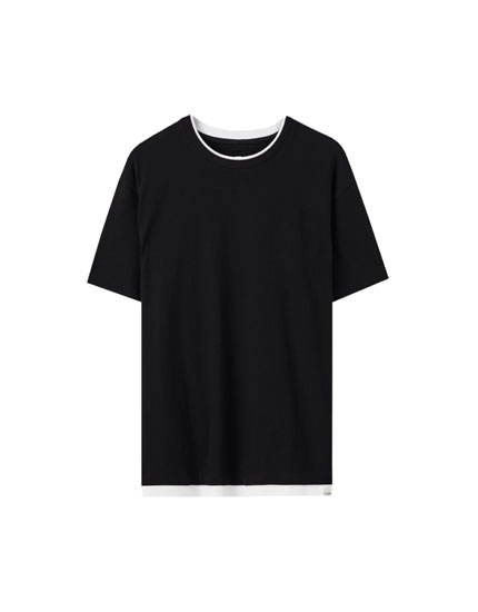 Koszulka basic z dwuwarstwowym dołem