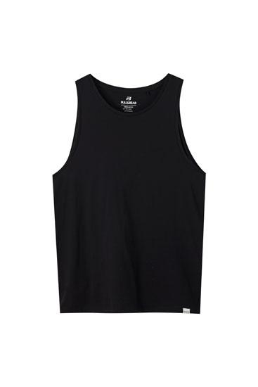 Shirt mit Trägern und Rundausschnitt
