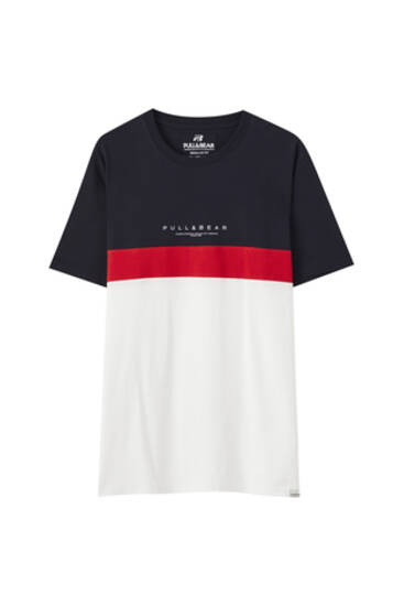 Basic-Shirt mit Colour-Blocks und Logo