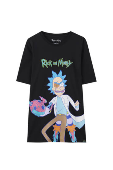 T-shirt Rick et Morty noir