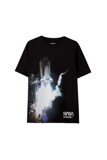 Roket görselli NASA t-shirt