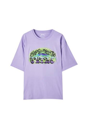 Camiseta violeta Tupac