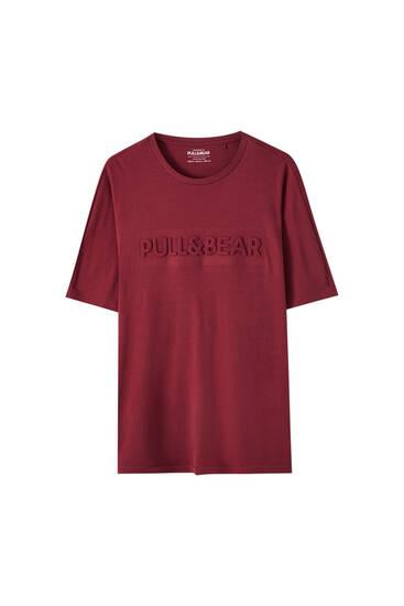Basic T-shirt with raised logo design