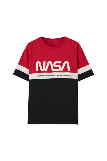 Basic colour block NASA T-shirt